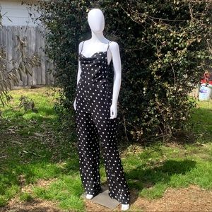 Lovers+Friends Quincy Strappy Polka Dot Jumpsuit